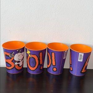"""Peanuts Snoopy """"BOO!"""" 4 cup 2013 Hallmark Bundle"""